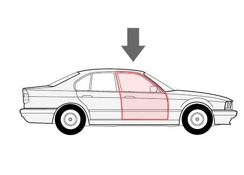Каретка направляющая стеклоподъемника Peugeot 407 правая дверь