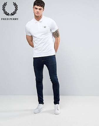 Футболка Поло Fred Perry | Белая тенниска Фред Пери (Размер S), фото 2