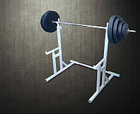 Стойки для приседаний со страховочными упорами + Штанга 94 кг