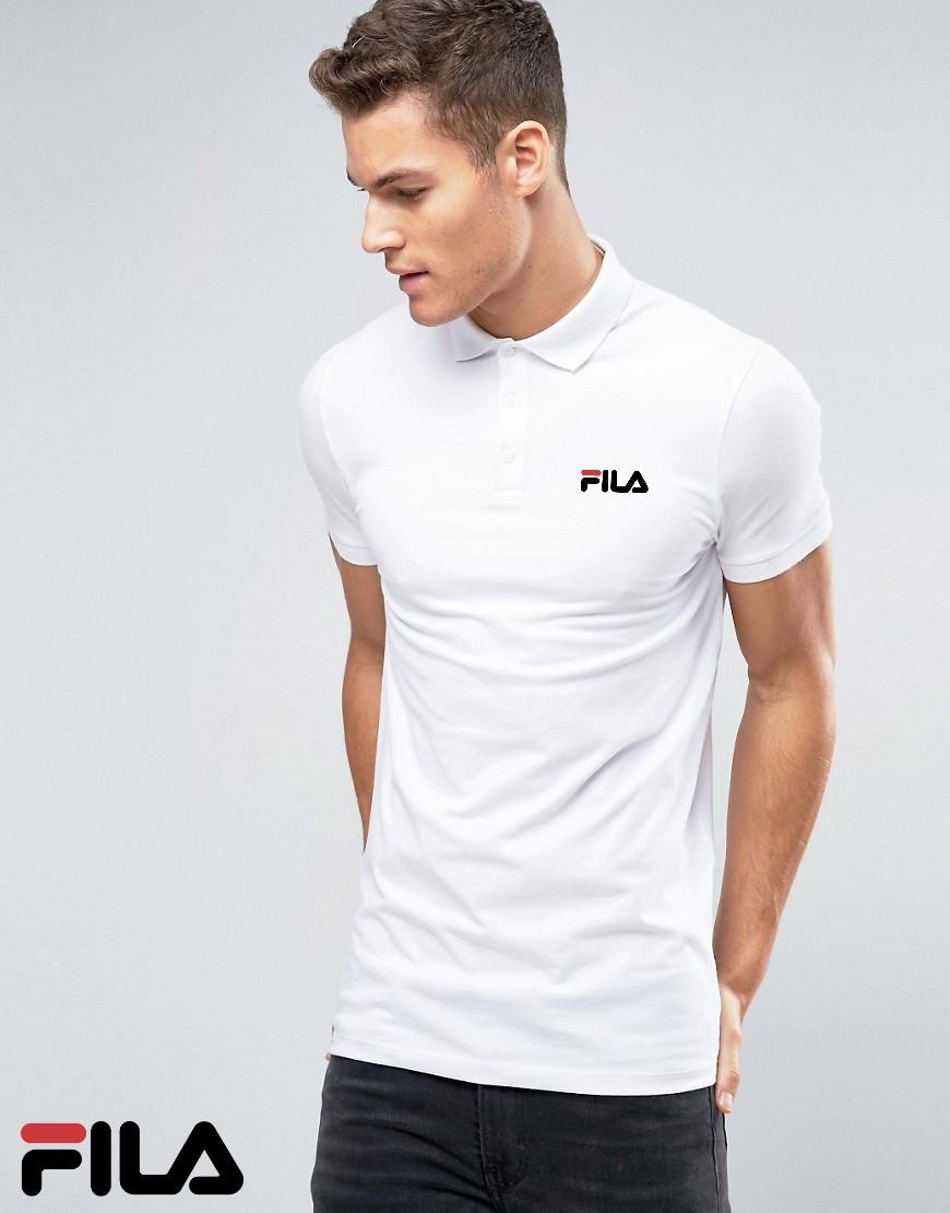 Футболка Поло Fila | Біла теніска Філа