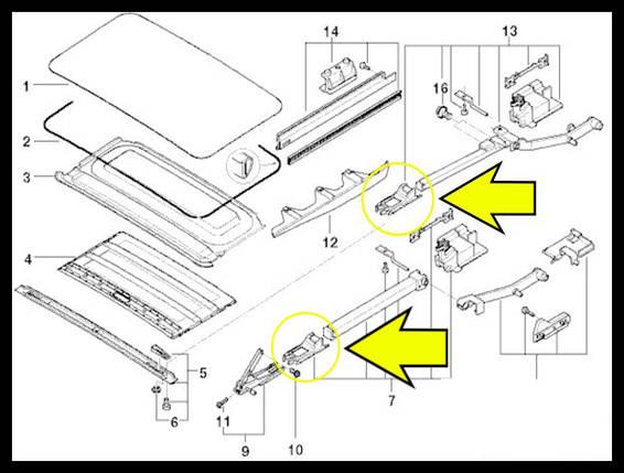 Направляющая люка BMW E36, E39, E46, E53, фото 2