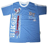"""Модная детская футболка с вышивкой """"Bikers"""" (рост от 104 до 128 см)"""