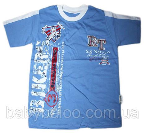 """Модная детская футболка с вышивкой """"Bikers"""" (рост от 104 до 128 см), фото 2"""