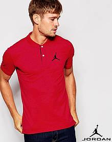 Футболка Поло Jordan | Красная тенниска Джордан