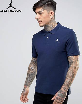 Футболка Поло Jordan | Тёмно синяя тенниска Джордан, фото 2