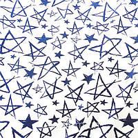 Трикотажное полотно кулир хлопок / эластан пенье 40/1, штрих звезды
