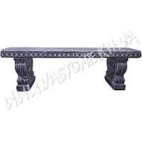 Скамейка бетонная, лавочка уличная «Барокко»