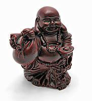 Хотей с мешком в руке каменная крошка коричневый (9,5х8,5х6,5 см)
