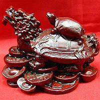 Черепаха-дракон каменная крошка коричневый (9х7х6 см)