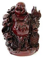 Хотей с драконом каменная крошка коричневый (17х12х8,5 см)