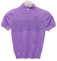 Кофта Deloras с декоративной вставкой по груди, р. 134-164, фиолетовая