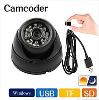 """Камера  купольная  """"DVR Camera Т08"""" с записью на карту памяти, фото 1"""