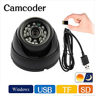"Камера  купольная  ""DVR Camera Т08"" с записью на карту памяти"