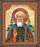 Набор для вышивки бисером именной иконы  «Святой Сергий»
