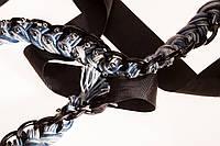 Ожерелье косичка на цепочке меланжевое.
