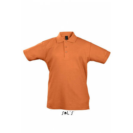 Детская рубашка поло оранжевая  SOL'S SUMMER II KIDS, размеры от 4 до 12 лет, плотность 170 г/м2