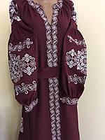 Вишита сукня дизайнерська робота натуральний льон