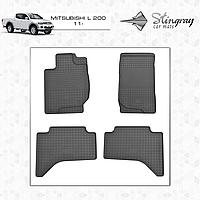 Коврики резиновые в салон Mitsubishi L 200 с 2011 (4шт) Stingray