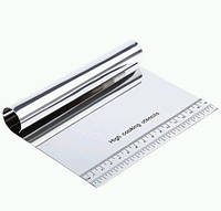 Шпатель скребок кондитерский делитель 15x10x2.5см металл SKU0000658, фото 1