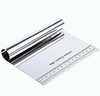Шпатель скребок кондитерский делитель 15x10x2.5см металл SKU0000658