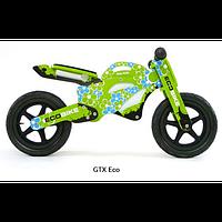 Велосипед беговой велокат Milly Mally беговел GTX Eco надувные колеса дерево Польша