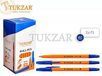 Ручка шариковая синяя 1мм TZ71
