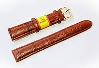 Ремешок кожаный Modeno Spain для наручных часов, коричневый, 18 мм