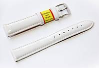 Ремешок кожаный Modeno Spain для наручных часов, белый, 18 мм