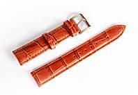 Ремешок кожаный Italian Classic для наручных часов, коричневый, 18 мм