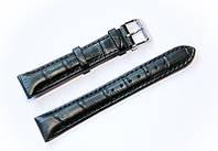 Ремешок кожаный Bandco Genuine Leather для наручных часов с классической застежкой, черный, 18 мм