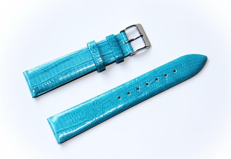 Ремешок кожаный Bandco Genuine Leather для наручных часов с классической застежкой, бирюзовый, 20 мм - Интернет-магазин AWATCH в Харькове