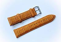 Ремешок кожаный Bandco Genuine Leather для наручных часов с классической застежкой, коричневый, 22 мм
