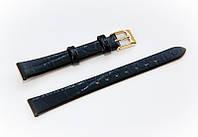 Ремешок кожаный Bros Cvcrro a Mano для наручных часов с классической застежкой, черный, 12 мм