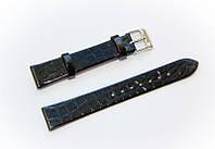 Ремешок кожаный Bros Cvcrro a Mano для наручных часов с классической застежкой, черный, 16 мм
