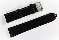 Ремешок кожаный Bros Cvcrro a Mano для наручных часов с классической застежкой, черный, 22 мм