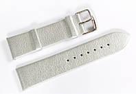 Ремешок кожаный Bros Cvcrro a Mano для наручных часов с классической застежкой, серебристый, 22 мм