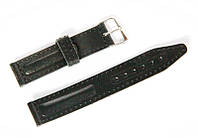 Ремешок кожаный Nobrand для наручных часов с классической застежкой, черный, 18 мм