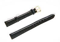 Ремешок (искусственная кожа) Nobrand для наручных часов с классической застежкой, черный, 12 мм