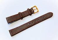 Ремешок (искусственная кожа) Nobrand для наручных часов с классической застежкой, коричневый, 16 мм