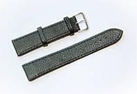 Ремешок (искусственная кожа) Nobrand для наручных часов с классической застежкой, черный, 20 мм