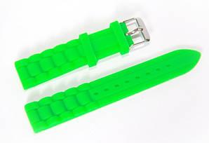 Ремешок каучуковый для наручных часов Geneva с классической застежкой, зеленый, 18 мм