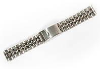 Браслет классический Nobrand для наручных часов серебряный, 18 мм