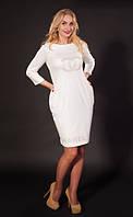 Женское платье Шанель красивое , элегантное, женственное  размер  44, 46, 48, 50, 52, 54, 56 белое