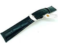 Ремешок кожаный Hightone HT-290 для наручных часов с классической застежкой, черный, 18x16 мм