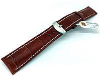 Ремешок кожаный Hightone HT-293 для наручных часов с классической застежкой, коричневый, 18x16 мм