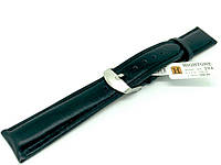 Ремешок кожаный Hightone HT-294 для наручных часов с классической застежкой, черный, 18x16 мм