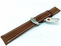 Ремешок кожаный Hightone для наручных часов с классической застежкой, коричневый, 18 мм