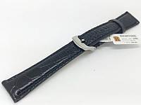Ремешок кожаный Hightone HT-298 для наручных часов с классической застежкой, черный, 18x14 мм