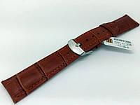 Ремешок кожаный Hightone HT-325 для наручных часов с классической застежкой, коричневый, 19x16 мм