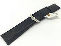 Ремешок кожаный Hightone HT-330 для наручных часов с классической застежкой, черный, 20x18 мм
